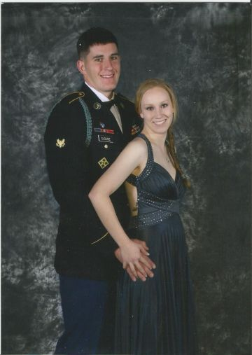HEROES Scholarship founder Alexandra Garritson and her former fianc�, U.S. Army Corp. Justin Clouse, are at a military ball in this photo. Clouse lost his life in 2014 to friendly fire during his second tour in Afghanistan. Photo submitted